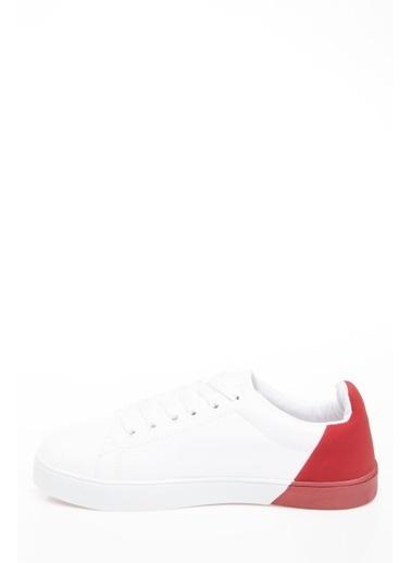 DeFacto Renk Bloklu Bağcıklı Sneaker Kırmızı